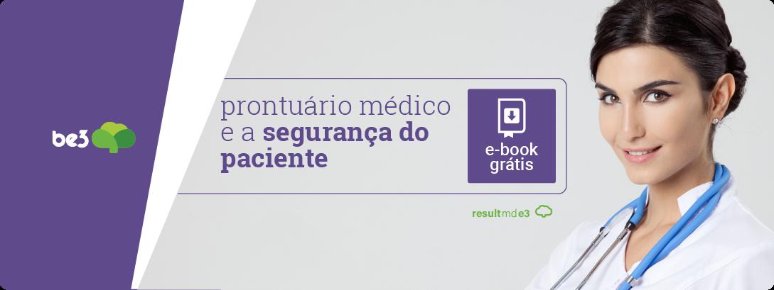 banner para downloado do e-book prontuário eletrônico e a segurança do paciente