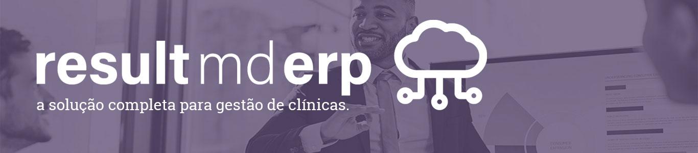 banner sistema de gestão para clínicas result md erp